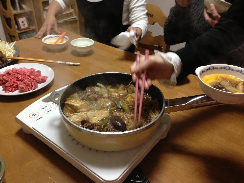Deilig sukiyaki.
