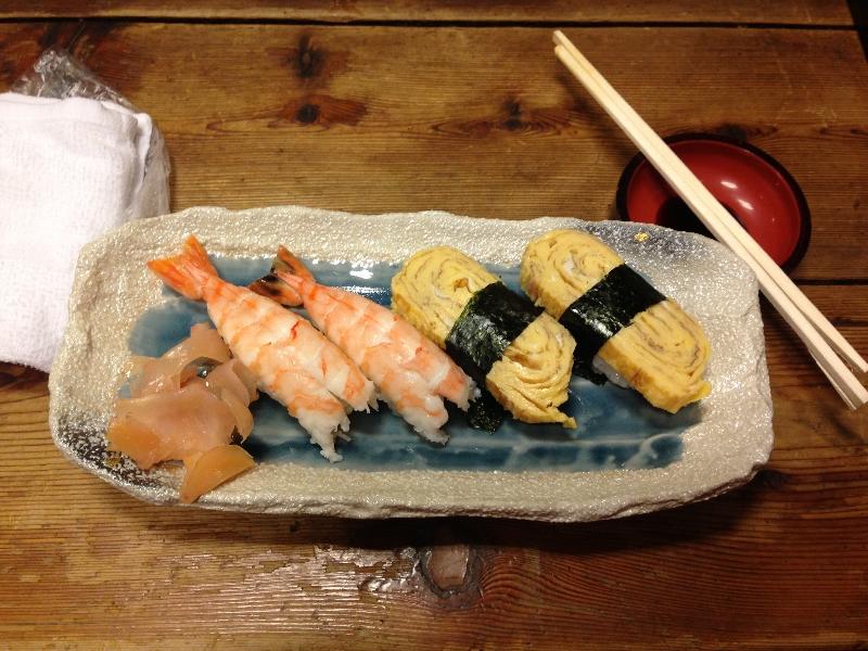 Den gravide fikk sin egen sushi-meny.